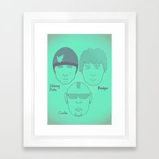 Breaking Bad - Faces - The Crew Framed Art Print