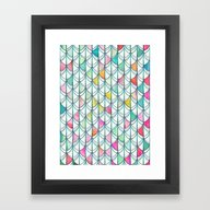 Framed Art Print featuring Pencil & Paint Fish Scal… by Micklyn