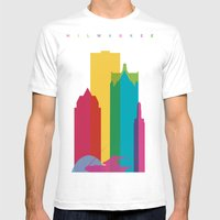 Shapes of Milwaukee. Accurate to scale Mens Fitted Tee White SMALL