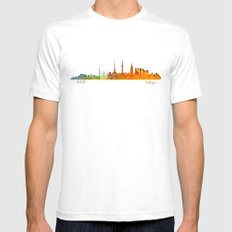 Tokyo City Skyline Hq V1 Mens Fitted Tee White SMALL