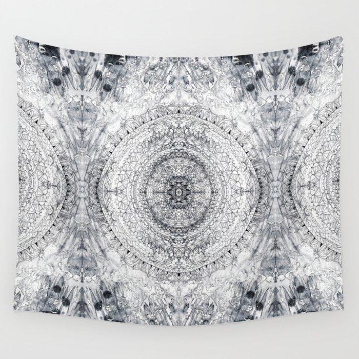 black white mandala grey blue wall tapestry by tigatiga artworks society6. Black Bedroom Furniture Sets. Home Design Ideas