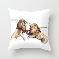 Dress Fight - Blue Or Wh… Throw Pillow