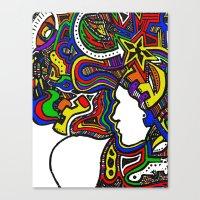 Rainbow Techno Canvas Print