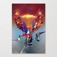 Red Bull Canvas Print