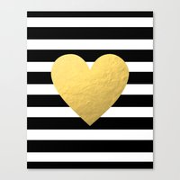 Gold Heart Canvas Print