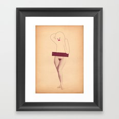 betty Framed Art Print