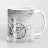 Bike and lines Mug