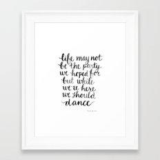 We should dance Framed Art Print