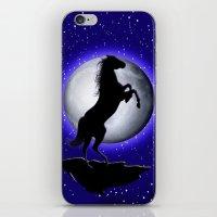 Wild Horse On Blue Moon  iPhone & iPod Skin