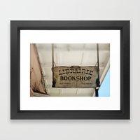 Librairie Bookshop Framed Art Print