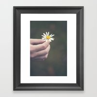 Flowers For Your Hair Framed Art Print
