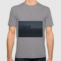 Manhattan Skyline Mens Fitted Tee Athletic Grey SMALL