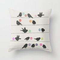 Birdsong_Gosh by Garima & Rachel  Throw Pillow