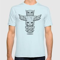 Grim Totem: A Forked Ton… Mens Fitted Tee Light Blue SMALL