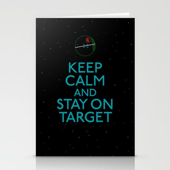 Stay on target Stationery Card
