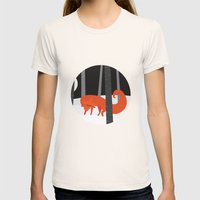 Winter Fox Vertical Womens Fitted Tee Natural SMALL