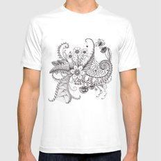 Garden Mens Fitted Tee White SMALL
