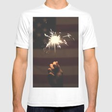 AMERICA SMALL White Mens Fitted Tee