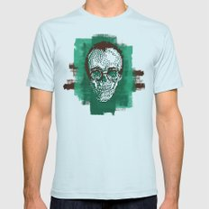 Keith POSTportrait Mens Fitted Tee Light Blue SMALL