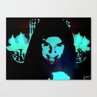Scary Man Canvas Print