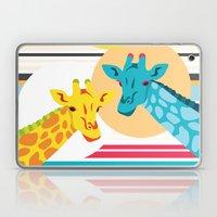 Giraffes In The Desert Laptop & iPad Skin