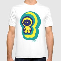Spaceman 04 SMALL Mens Fitted Tee White
