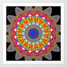 Astro Girl Mandala Art Print