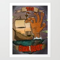The Gnar Beast Art Print