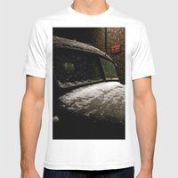 Truck Stop Mens Fitted Tee White SMALL