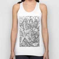 Starfish went out swimming Unisex Tank Top