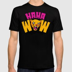 HAHA WOW COUGAR Mens Fitted Tee SMALL Black