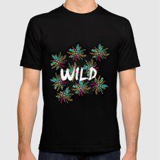Wild Mens Fitted Tee Black SMALL