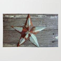 Primitive Rusty Star Rug