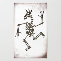 Skeleton Unicorn Dance 2 Rug