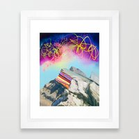 Rainbow Mountain Framed Art Print
