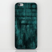 Turquoise Lined Rusted Metal Look iPhone & iPod Skin