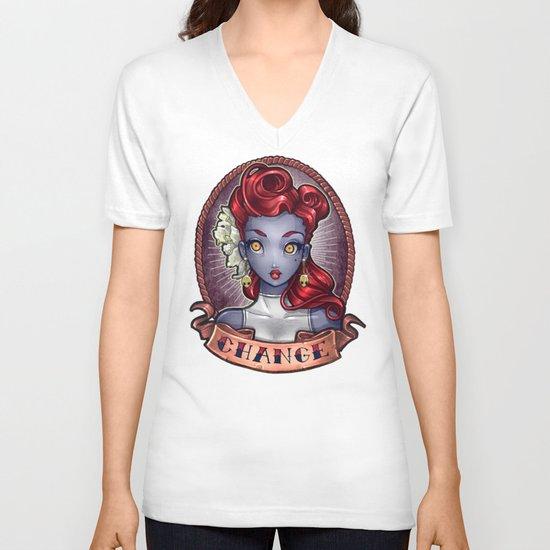 CHANGE pinup V-neck T-shirt