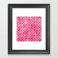 Moroccan Watermelon Framed Art Print