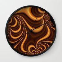 Caramel Twist Wall Clock