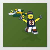 Bears Bricked: Jared Allen Canvas Print