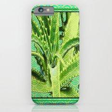 Abstract Chartreuse-green-aqua Pattern Aloe Succulent iPhone 6 Slim Case