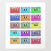 Cassettes - Mixing It Up Art Print