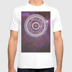 Galactica Mens Fitted Tee White SMALL