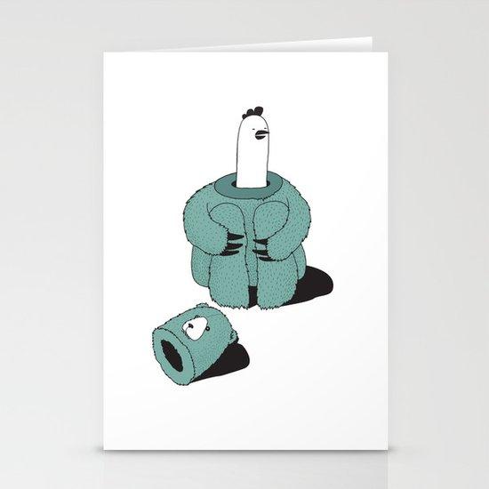 Chicken-Bear Stationery Card