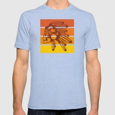 Nod to the 70's Mens Fitted Tee Tri-Blue SMALL