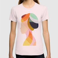 On & On Womens Fitted Tee Light Pink SMALL
