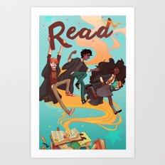 Read! Art Print