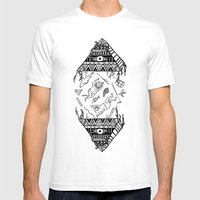 On how the mystical levitation of divers are induced by floating pyramids Mens Fitted Tee White SMALL