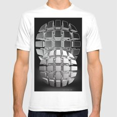 Bullets Mens Fitted Tee White SMALL