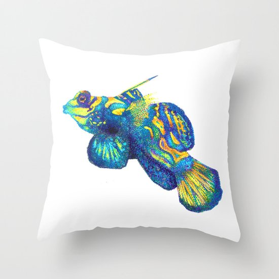 Psychedelic Mandarin Throw Pillow